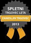 Spletni trgovec leta 2013 - ZANESLJIV TRGOVEC
