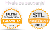 Spletni trgovec leta 2014 - ZANESLJIV TRGOVEC