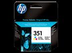 Kartuša HP CB337EE nr.351 (barvna), original