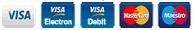 (Mastercard, Visa, Visa Electron, Maestro)