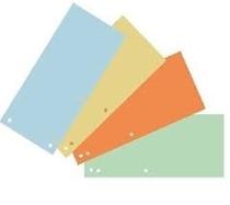 Pregradni karton 10 x 22,5 cm, komplet barv
