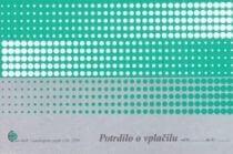Obrazec potrdilo o vplačilu (5290), 2 kosa