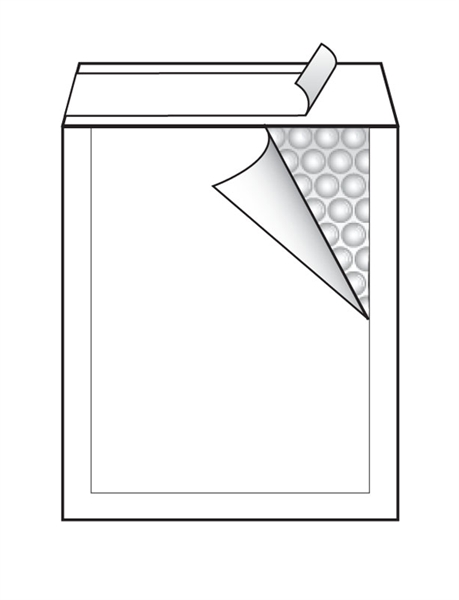 Kuverta C št.3, oblazinjena, 150 x 210 mm, bela, 10 kosov
