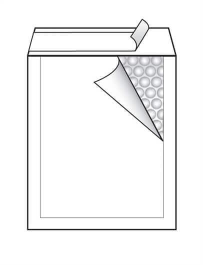 Kuverta F št.6, oblazinjena, 220 x 330 mm, bela, 10 kosov