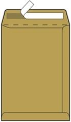 Kuverta vrečka B4, 250 x 353 mm, rjava, 500 kosov