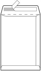 Kuverta vrečka C4, 230 x 330 mm, bela, 100 g, 500 kosov
