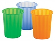Koš za smeti 31 x 28 cm, zelen, transparenten