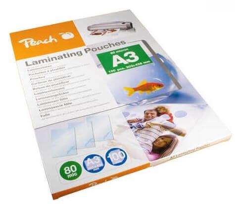 Žepki za plastificiranje (A3), glossy, 80 mic, 100 kosov (PP580-01)