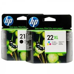 Komplet kartuš HP nr.21XL BK + nr.22XL CMY, original