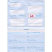 Kuverta s povratnico (obrazec 0.44), 100 kosov