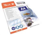 Žepki za plastificiranje (A4) Peach, 100 mic, 100 kosov (PP500-02)