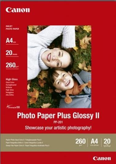 Foto papir Canon PP-201, A4, 20 listov, 260 gramov