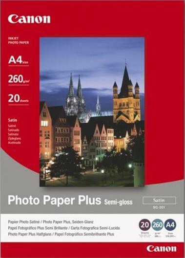 Foto papir Canon SG-201, A4, 20 listov, 260 gramov