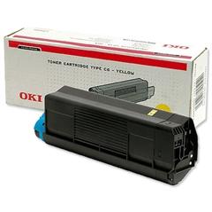 Toner OKI 42127405 (C5100) (rumena), original