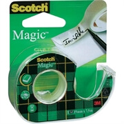 Lepilni trak Scotch Magic 19 mm x 7,5 m, na odvijalcu
