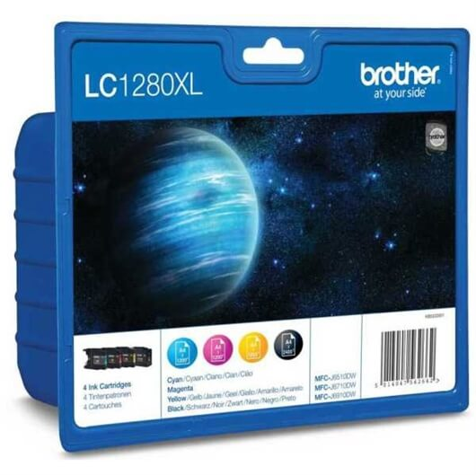 Komplet kartuš za Brother LC1280XLV (BK/C/M/Y), original