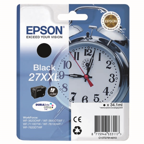 Kartuša Epson 27 XXL (C13T279140102) (črna), original