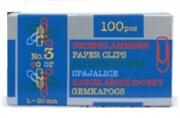 Sponke za papir Niko, barvne, 30 mm, 100 kosov