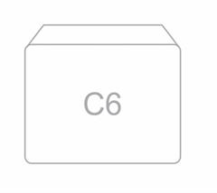Kuverta C6, 114 x 162 mm, bela, 100 kosov