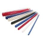 Plastične špirale, 6 mm, rdeča