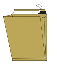 Kuverta vrečka C4, 230 x 330 x 40 mm, rjava, 120 g, 100 kosov
