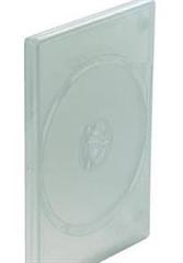 CD/DVD škatlica za 1 CD/DVD, matt prozorna, 10 kosov