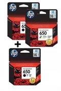 Komplet kartuš HP nr.650 (2 x BK + C/M/Y), original