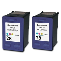 Komplet kartuš za HP C8728AE nr.28 (barvna), dvojno pakiranje, kompatibilen