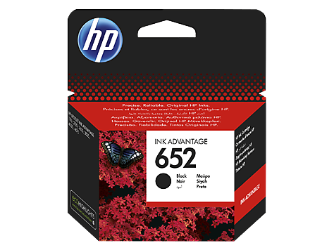 Kartuša HP F6V25AE nr.652 (črna), original