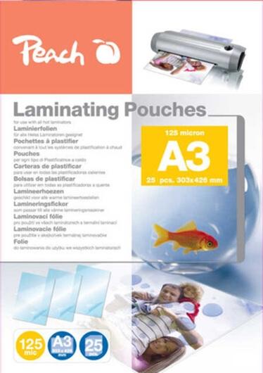 Žepki za plastificiranje (A3), 125 mic, 25 kosov (PPR525-01)