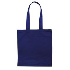 Vrečka bombažna Basic long, modra