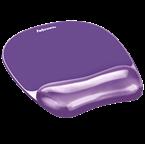 Podloga za miško z gel vložkom Fellowes, Crystal™ Gel, vijolična