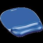Podloga za miško z gel vložkom Fellowes, Crystal™ Gel, modra