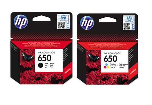 Komplet kartuš HP nr.650 (BK + CMY), original