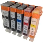 Komplet kartuš za Canon CLI-521 BK/C/M/Y + PGI-520BK, kompatibilen
