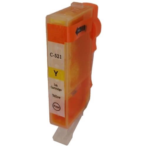 Kartuša za Canon CLI-521Y (rumena), kompatibilna