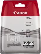 Kartuša Canon PGI-520BK (črna), dvojno pakiranje, original