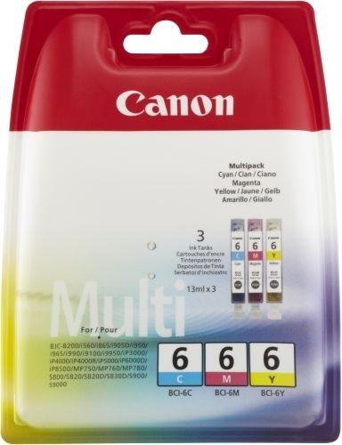 Komplet kartuš Canon BCI-6 C/M/Y (modra, škrlatna, rumena), original