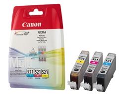 Komplet kartuš Canon CLI-521 Z (modra, rumena, škrlatna), original