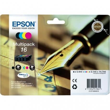 Komplet kartuš Epson 16 (C13T16264010) (BK/C/M/Y), original