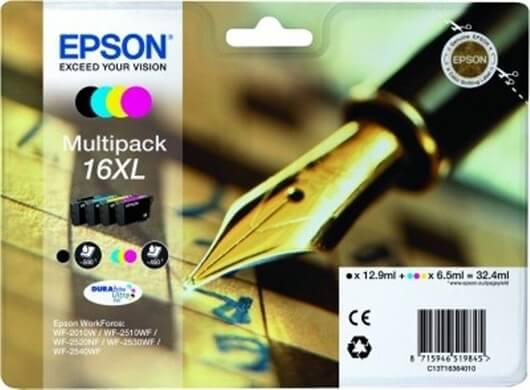 Komplet kartuš Epson 16 XL (C13T16364010) (BK/C/M/Y), original