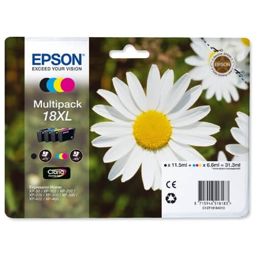 Komplet kartuš Epson 18 XL (C13T18164010) (BK/C/M/Y), original