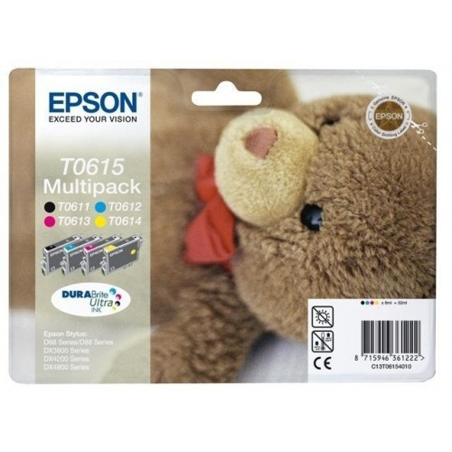 Komplet kartuš Epson T0615 (BK/C/M/Y), original