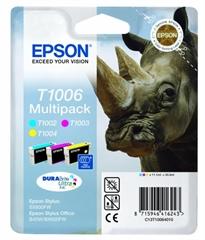 Komplet kartuš Epson T1006 (C/M/Y), original
