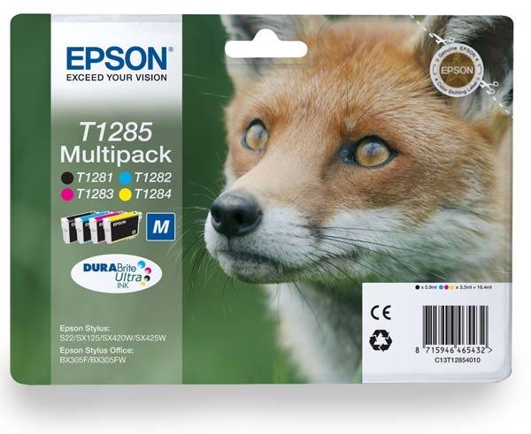 Komplet kartuš Epson T1285 (BK/C/M/Y), original