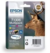 Komplet kartuš Epson T1306 (C/M/Y), original