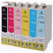 Komplet kartuš za Epson T0487 (BK/C/M/Y/LM/LC), kompatibilen
