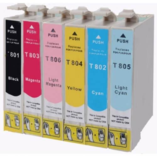 Komplet kartuš za Epson T0807 (BK/C/M/Y/LM/LC), kompatibilen