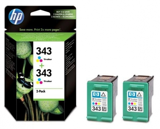 Kartuša HP CB332EE nr.343 (barvna), dvojno pakiranje, original