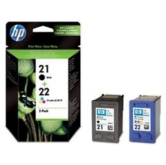 Kartuša HP SD367AE (nr.21 BK + nr.22 CMY), dvojno pakiranje, original